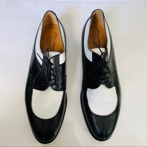 Santoni mens unique Oxford Italian shoe size 11